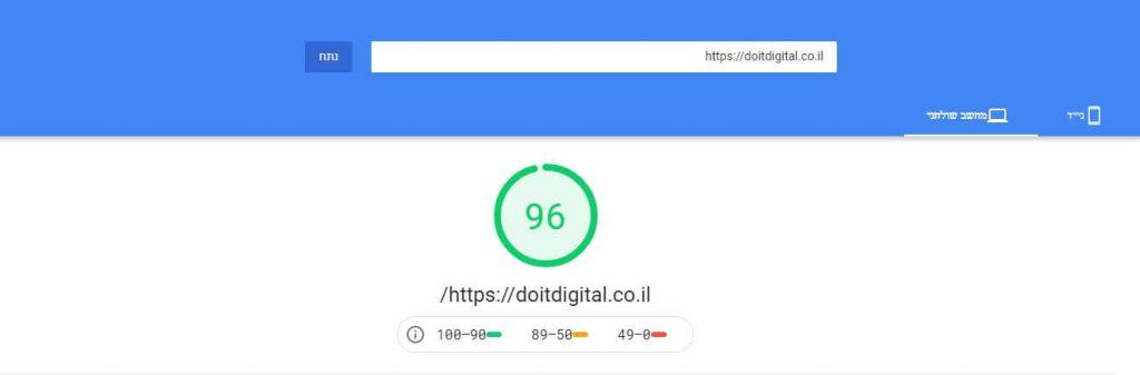 בדיקת מהירות אתר בגוגל PageSpeed Insights